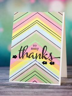 Rainbow Chevron by housesbuiltofcards - Cards and Paper Crafts at Splitcoaststampers