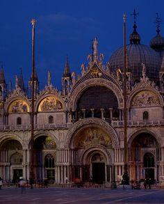Basilica di San Marco at night, Venice, Rita Crane Photography