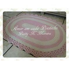 Tapete Fofurento oval rosa bebê | :::Amor em cada Pontinho:::