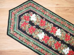 Quilted table runner Holiday Christmas by KellettKreations on Etsy