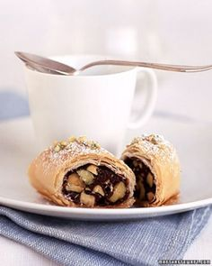 """See the """"Chocolate-Pistachio Phyllo Rolls"""" in our  gallery"""