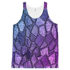Ultra Violet Mosaic Glass Tank Top - Comfy Moisture-Wicking Sport Tank Tops By Talented Fashion & Graphic Designers - Fashion Graphic, Fashion Design, Sporty Outfits, Printed Tank Tops, Mosaic Glass, Ultra Violet, Mens Fashion, Trendy Fashion, Athletic Tank Tops