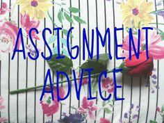 Assignment Advice - Megan Time Blog
