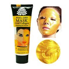 120 미리리터 24 천개 황금 마스크 안티 링클 안티 에이징 마스카라 얼굴 마스크 얼굴 미백 얼굴 마스크 스킨 케어 얼굴 리프팅 퍼밍