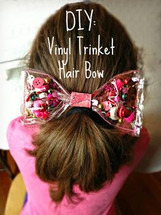 WhiMSy love: DIY: Vinyl Trinket Hair Bow