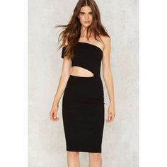 Nasty Gal Cutting It Close Bodycon Dress