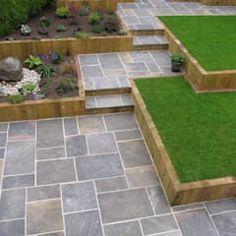GALAXY SANDSTONE PAVING: modern Garden by BARTON FIELDS LANDSCAPING SUPPLIES