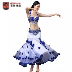 08b30a4c41b76 US $107.73 19% OFF  Belly Dance Clothing Oriental Costume 3 Piece/Suit Bra  Belt Skirt Belly Dance Costume Set Performance 2018 New Arrival-in Belly  Dancing ...
