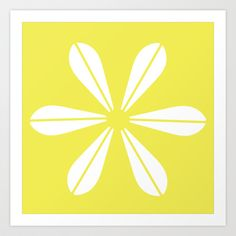 LOTUS MINIMAL - Vanilla cream. Art Print by The Bearded Bird. - $14.00