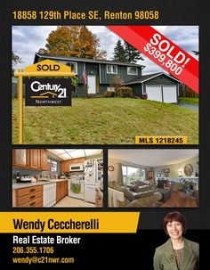 #SOLD  Congratulations Wendy Ceccherelli and to the new owners of Friendly suburban community with annual neighborhood events, including Easter egg hunts, garage sales, beauty bark sales in nearby park in #Renton  MLS # 1218245