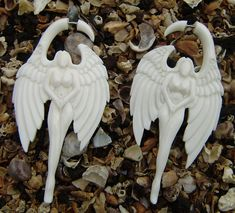 hand madefake gauge bone earrings Split Gauge by ANELAJADE on Etsy, $38.00