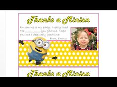 How to make personalized picture fill in the blank thank you cards.  Learn how to make these customized minion thank you cards in a matter of minutes with MS Word.