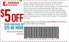 Famous Footwear: Get $5 off a $25 Purchase w/ Coupon or Promo Code (Exp 12/23) | SassyDealz.com