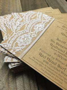 Rustic/vintage wedding invitations