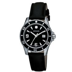 Wenger Ladies Sport Black Dial Leather Watch. Visit www.stuller.com/l... to find your nearest retailer.
