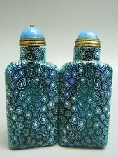 A Set Of Blue and White Peking Glass Snuff Bottle