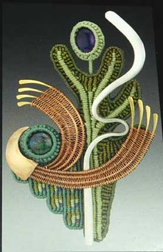 Brooch by Karen Smith. Amazing work.  Inspirational