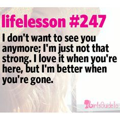 This is great!!!! GirlsGuideTo | Our 21 Favorite Life Lessons About Break Ups | GirlsGuideTo