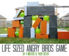 life size angry birds game tween party idea