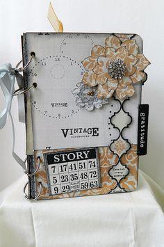 Scrapfest 2012 - Teresa Collins Vintage Finds Mini Album, via Flickr.