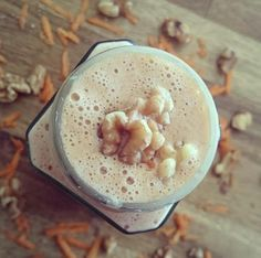 Try This Healthy Mummy Carrot Cake Smoothie Recipe Healthy Mummy Smoothie, Healthy Mummy Recipes, Carrot Cake Smoothie, Cherry Smoothie, Vanilla Smoothie, Smoothie Mix, Smoothie Recipes, Baking Recipes, Healthy Drinks