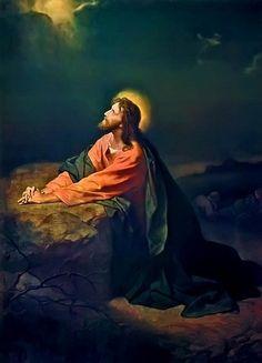 Jesús en el Huerto de Getsemani