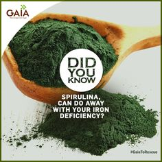 Does your skin seem pale for no apparent reason? If so, you may have a deficiency of Iron. Correct this with GAIA Spirulina:  #GaiaToTheRescue #HealthTips