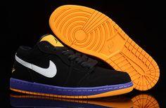 huge selection of ccab3 0a36e Air Jordan 1 Retro Zapatillas De Baloncesto Negro Amarillo Baja Blanco  Retro Jordans, Cheap Jordans