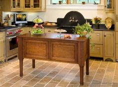 #Kitchen Idea of the Day: Two-Tone Kitchens in Traditional Homes - Gallery. (By Crown Point Cabinetry). Love the island.
