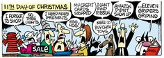Mother Goose and Grimm By Mike Peters / 11. Ralph's diary during Christmas - 11
