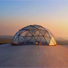 Geodesic dome mountaintop