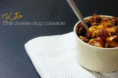 Ketogenic Chili Cheese Dog Recipe With Ground Beef Hot Dogs Homemade Chili and Cheese Baked