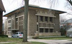 Фрэнк Ллойд Райт (Frank Lloyd Wright): Frederick C. Bogk House, Milwaukee, Wisconsin (Дом Фредерика Бока, Милуоки, Висконсин ), 1916