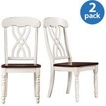 Walmart: Ohana Side Chairs - Set of 2, White / Oak