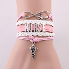 9 styles NEW Hot Best gift Infinity Love NURSE bracelet medical charm bracelets & bangles  lovers gifts  jewelry Drop Shipping