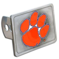Clemson Tigers NCAA 3-D Metal Trailer Hitch Receiver Cover