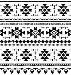 Tribal aztec retro seamless pattern vector by RedKoala on VectorStock®