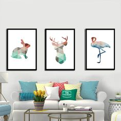 Geometric Deer Swan Rabbit Canvas Painting Colorful Animals A4 No Framed Art Print Poster Wall Picture For Living Room Kids Room♦️ SMS - F A S H I O N http://www.sms.hr/products/geometric-deer-swan-rabbit-canvas-painting-colorful-animals-a4-no-framed-art-print-poster-wall-picture-for-living-room-kids-room/ US $2.43