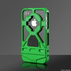 Rokform Rokbed v3 iPhone 4/4S polycarbonate protective case with Remote Mounting System (RMS) to stick your phone to your dashboard (or other desired surface) and detachable wrist lanyard. Comes in 13 colors, has multiple optional accessories, and is affordable at $ 39 (plus $ 8 for the RMS).