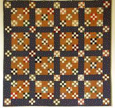 090413_147 Quilts –  Variation sur le Nine patch et quilt de triangles
