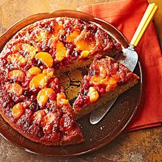 Cranberry-Orange Upside Down Cake  not the usual flavors I like, but it looks GORGEOUS