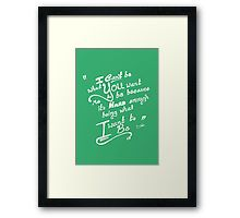 'Be You (Mint)' Framed Print by Jiggy Creationz Framed Art Prints, It Works, Finding Yourself, Mint, Shop, Stuff To Buy, Design, Nailed It
