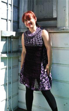 New crochet dress in purple