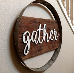 Gather Sign Gather Wood Sign Wood Signs Wine Gifts Wine