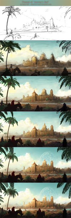 Process of Journey's End by Industrial-Forest on DeviantArt
