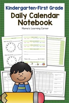 Use this Kindergarten-1st Grade Calendar Notebook in your homeschool or classroom this year! Includes weather, graphing, days of the week, months of the year, seasons, telling time, and more! $