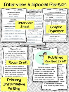 Informative Writing and Interview Project - Students will choose a relative, neighbor, family friend, or other community member to interview. Then they'll work through the writing process to write a great informative paragraph! Common Core Writing 1st 2nd #informativewriting #commoncorewriting