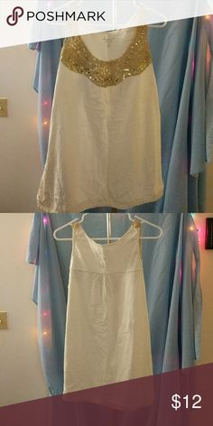 f961dd75461 Lane Bryant tank top Lane Bryant Size 22 24 Cream colored shirt with gold  crocheted