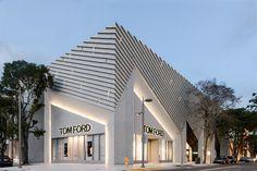 Aranda\Lasch creates pleated concrete facade for Tom Ford flagship Miami store