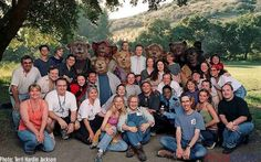 The cast and crew of the Country Bears, with Terri upfront and center.
